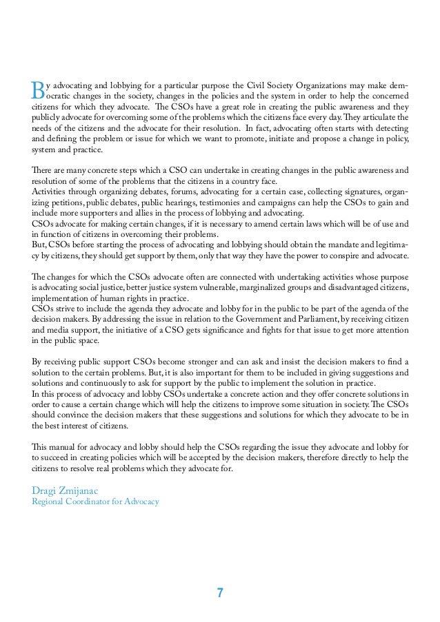 Public order advocate essay