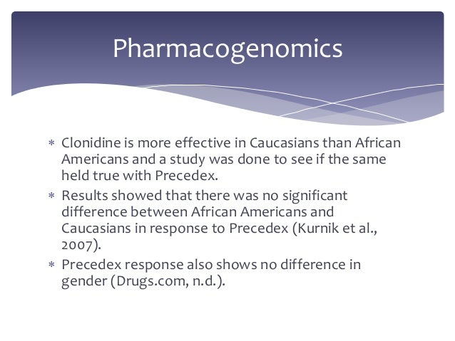 Comparative Trial to Study the Effectiveness of Clonidine ...