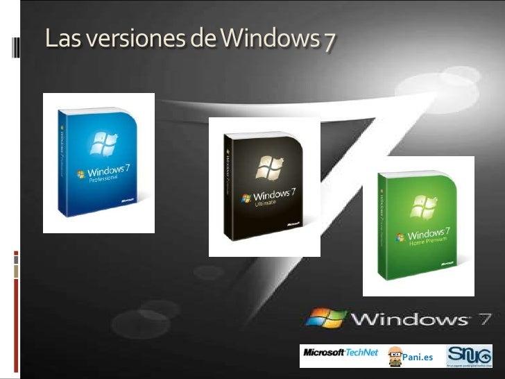 Presentando Windows 7¿Para qué Windows 7 (con lo bien que nos iban Vista y XP)?<br /><ul><li>Mayor facilidad de uso