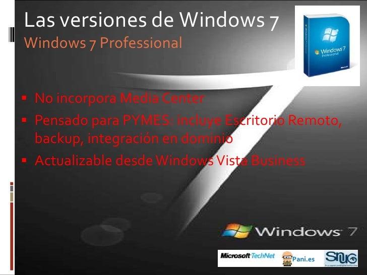 Antes de Windows 7<br />Pani.es<br />