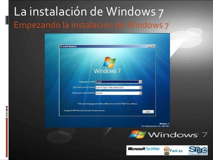 Antes de Windows 7<br />2001: Windows XP<br />Pani.es<br />