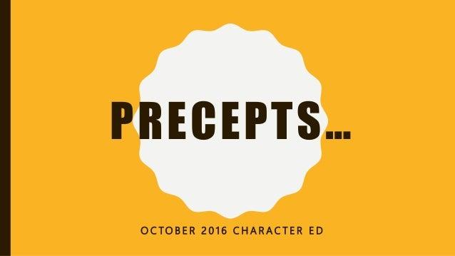 Precepts lesson #1