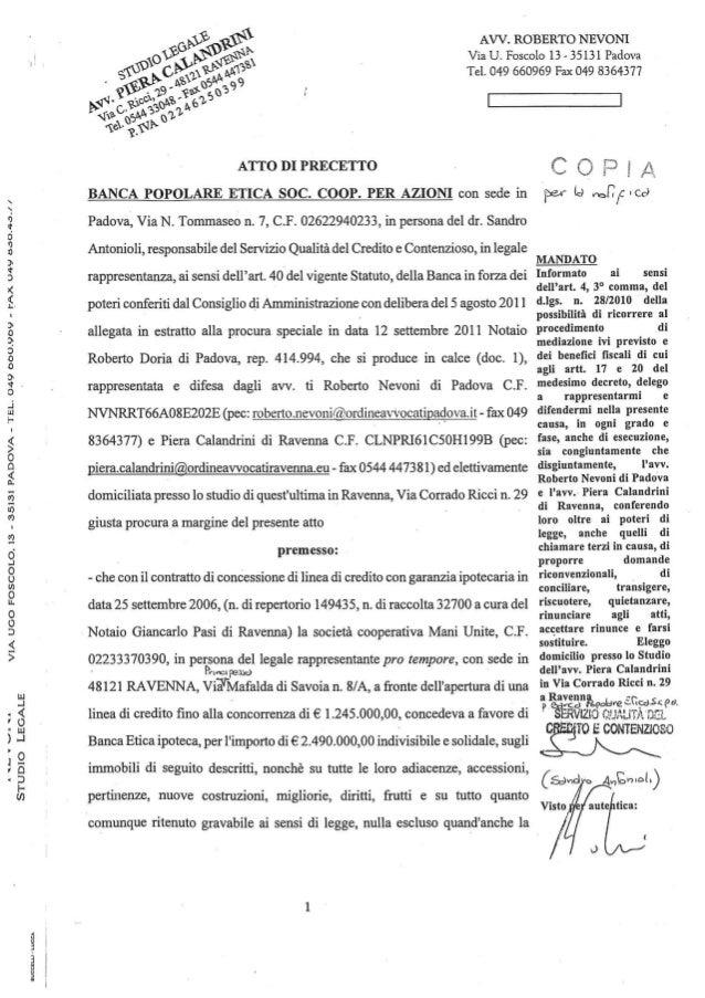 STUDIO LEGALE  VIA UGO FOSCOLO.  13 - 3513i PADOVA — TEL.  O49 000.909 - lfAx U49 doOJI-O-I/   auccnu - LUCCA  AVV.  ROBER...