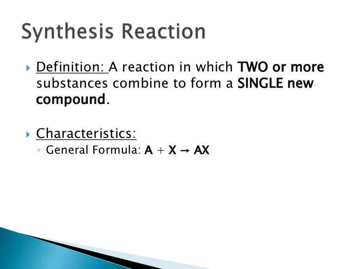 Classification of Chemical Reactions – Synthesis Reactions Worksheet