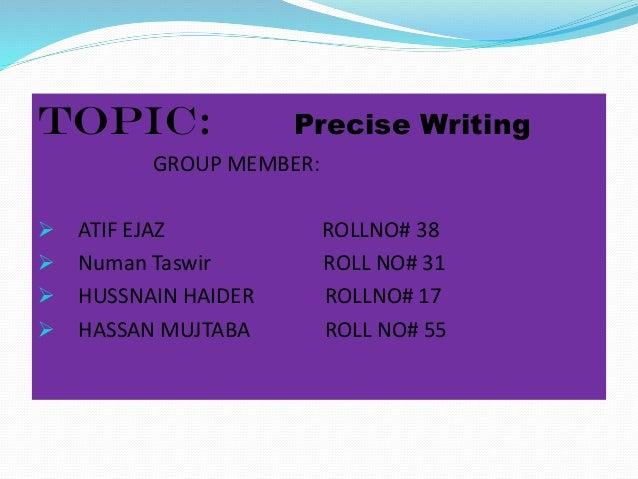 the goals of precis writing