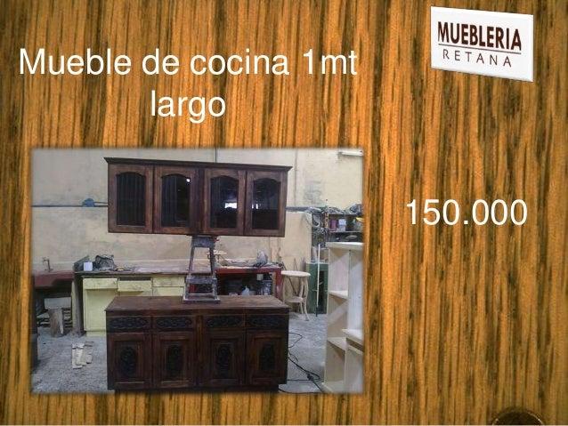 Mueble de cocina 1mt       largo                       150.000