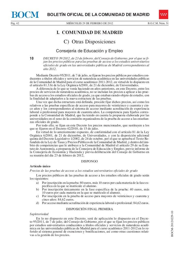 BOCM                   BOLETÍN OFICIAL DE LA COMUNIDAD DE MADRIDPág. 42                                MIÉRCOLES 29 DE FEB...