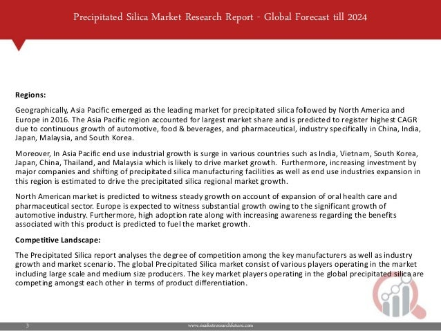 Precipitated silica market 2019 industry size, trends evaluation, glo…