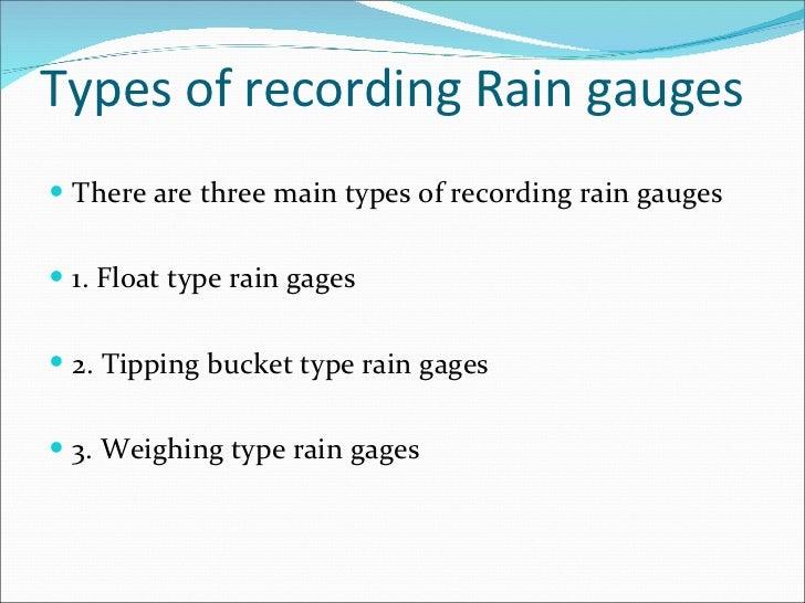 Precipitation presentation types of recording rain ccuart Choice Image