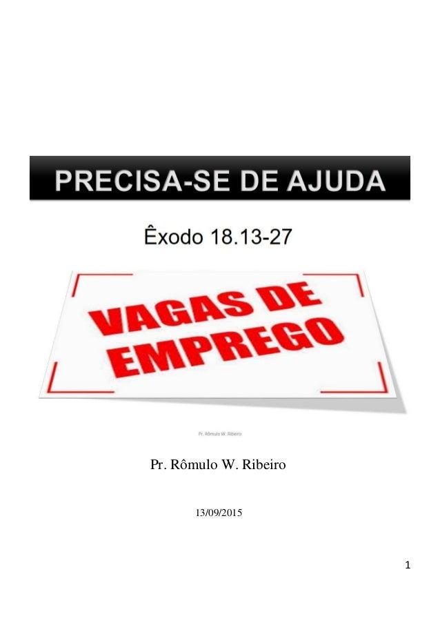 1 Pr. Rômulo W. Ribeiro 13/09/2015