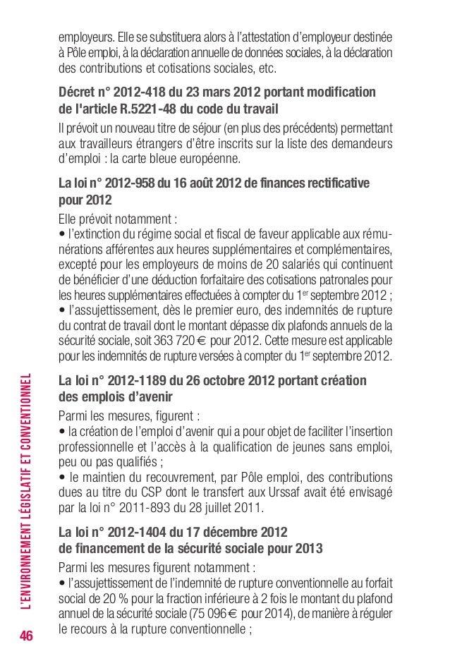 Le pr cis de l 39 indemnisation du ch mage - Plafond annuel de la securite sociale ...
