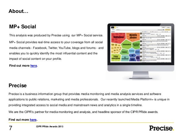 About… MP+ Social This analysis was produced by Precise using our MP+ Social service. MP+ Social provides real-time access...