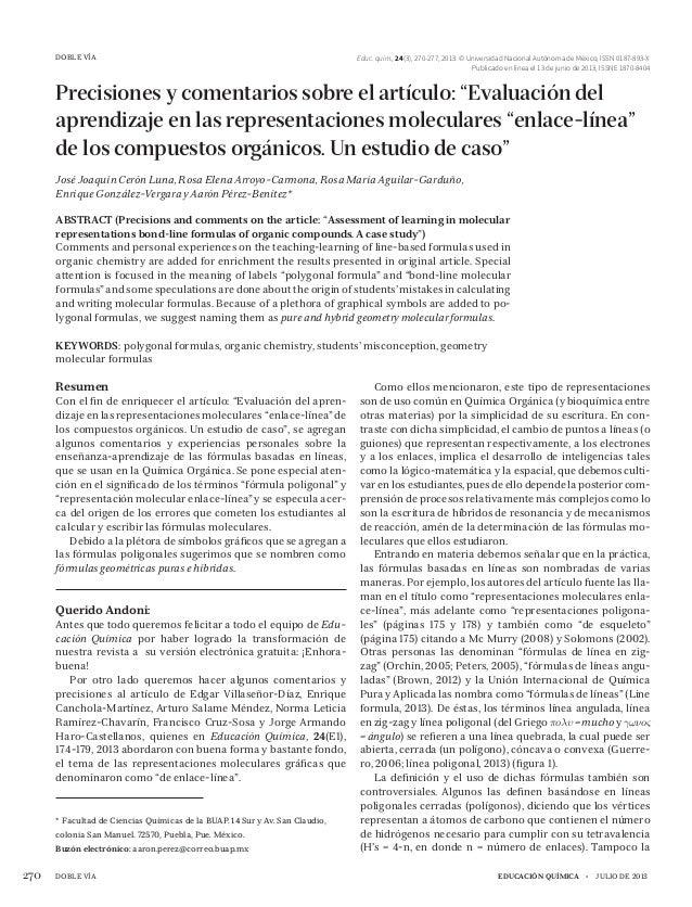 educación química • julio de 2013270 DOBLE VÍA Educ. quím., 24(3), 270-277, 2013. © Universidad Nacional Autónoma de Méx...