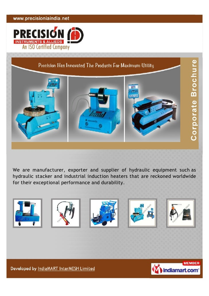 We are manufacturer, exporter and supplier of hydraulic equipment such ashydraulic stacker and industrial induction heater...