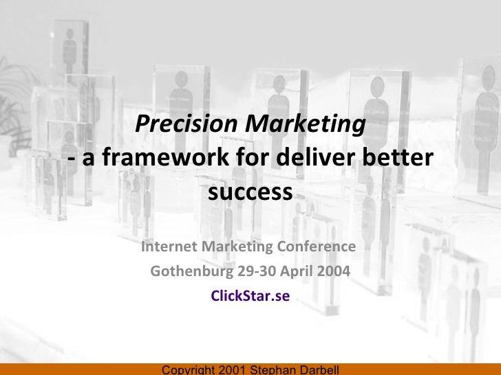 Precision Marketing - a framework for deliver better success Internet Marketing Conference  Gothenburg 29-30 April 2004 Cl...