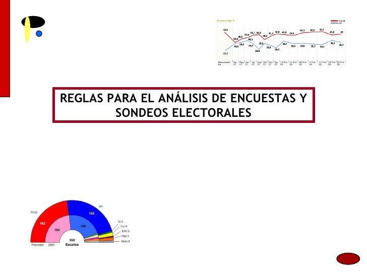 REGLAS PARA EL ANÁLISIS DE ENCUESTAS Y SONDEOS ELECTORALES