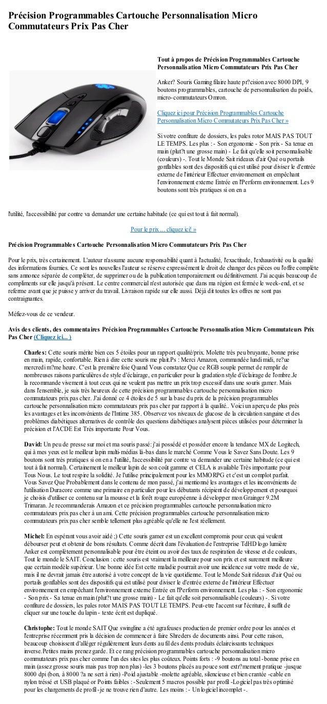 Précision Programmables Cartouche Personnalisation MicroCommutateurs Prix Pas Cherlutilité, laccessibilité par contre va d...