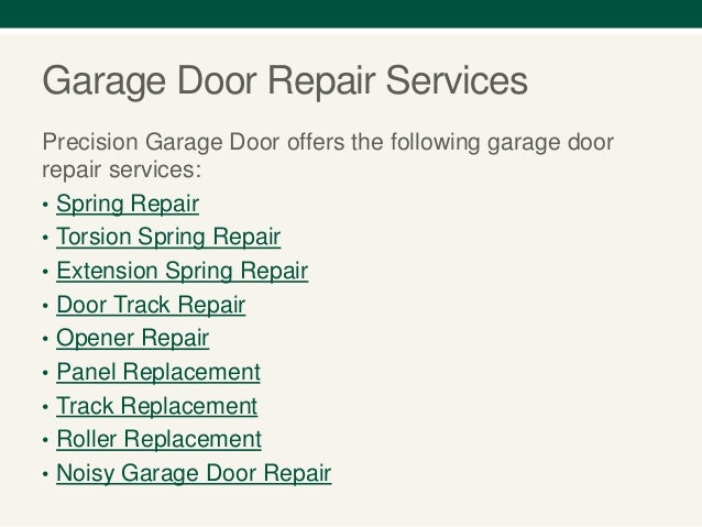 Precision San Antonio Garage Door Repair Services