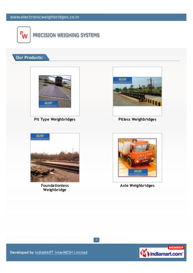 Precision Weighing Systems , Pune, Axle Weigh Bridges Slide 3