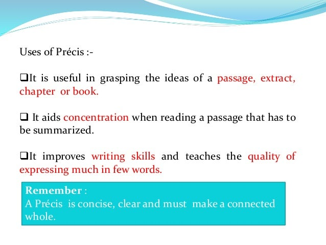 precis writing passages Precis writing exercise 2  with answer is it the main passage or the precis give me the main passage precis writing with answer exercise 1.