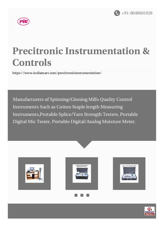 +91-8048601028 Precitronic Instrumentation & Controls https://www.indiamart.com/precitronicinstrumentation/ Manufacturers ...