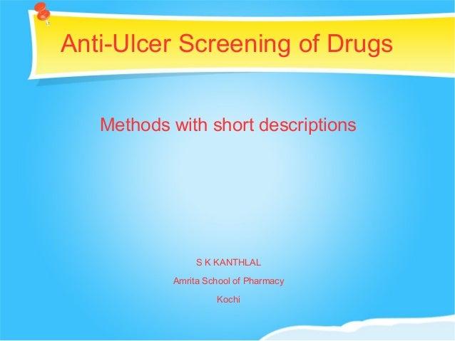 Antiulcer drugs.