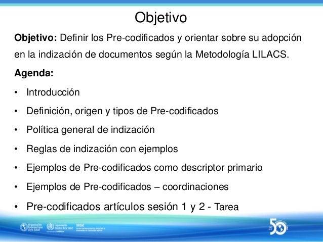 Sesión 3 de 10 - Indización con uso de Pre-codificados (límites) Slide 2