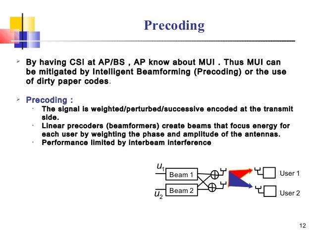 Precoding