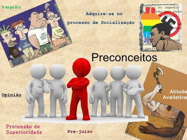 Preconceitos Atitude Avaliativa Pre-juízo Opinião   Adquire-se no  processo de Socialização Suspeita Pretensão de Superior...