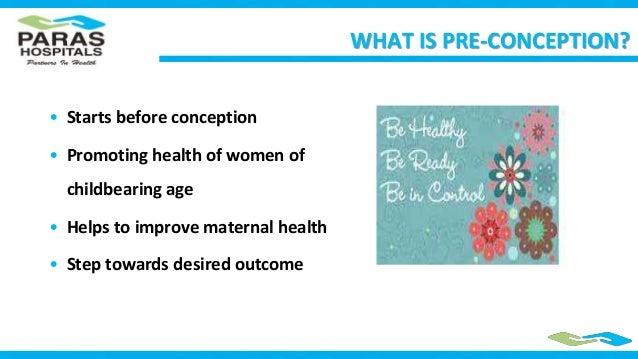 Preconeption care or Prepregnancy Care Slide 2