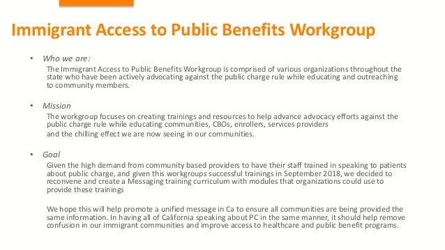 Advocacy on Public Charge & Health4All