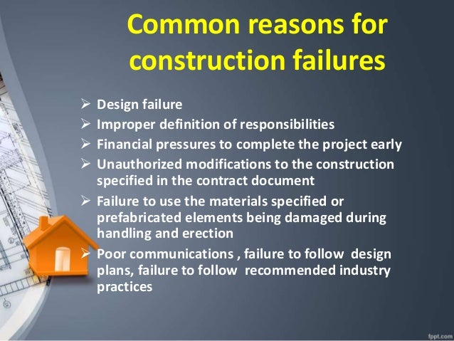 construction project failures case studies A case study of project and stakeholder management failures: lessons learned stakeholder theory is a useful framework for analyzing the behavioral aspects of the project management process.