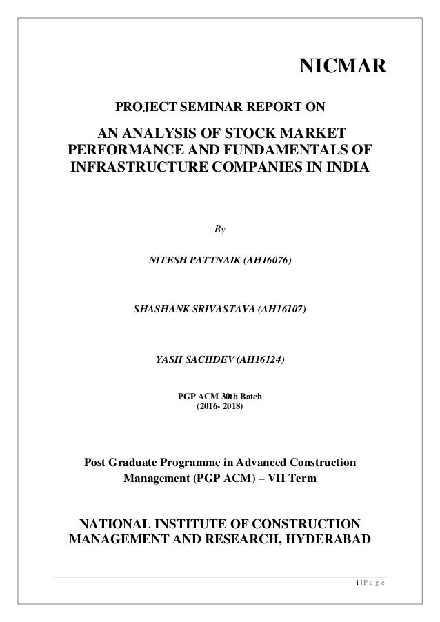 Stock Market Performance and Fundamentals of top Infrastructure Compa…