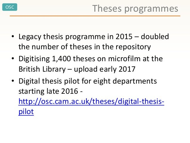dspace thesis cambridge The archive runs on dspace, an open source software package do you have questions about this archive  welcome to rice university's digital scholarship archive.