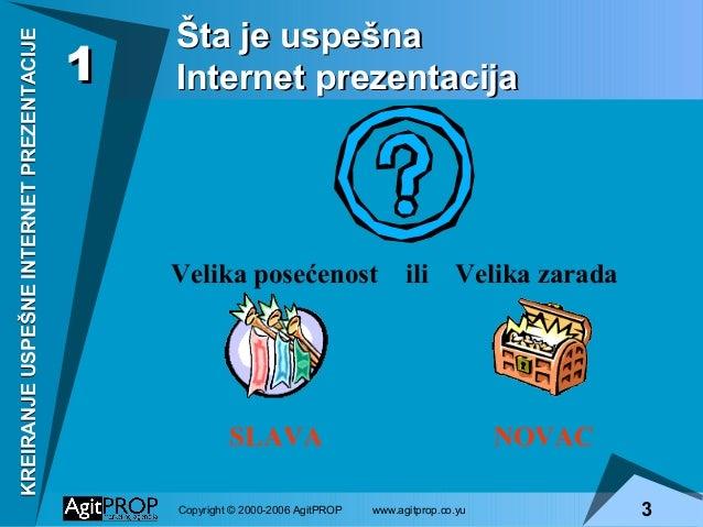 Kreiranje uspešne internet prezentacije Slide 3