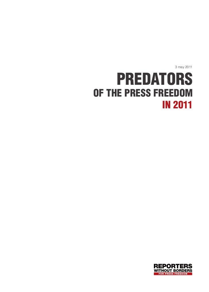 3 may 2011     predatorsof the press freedom               in 2011