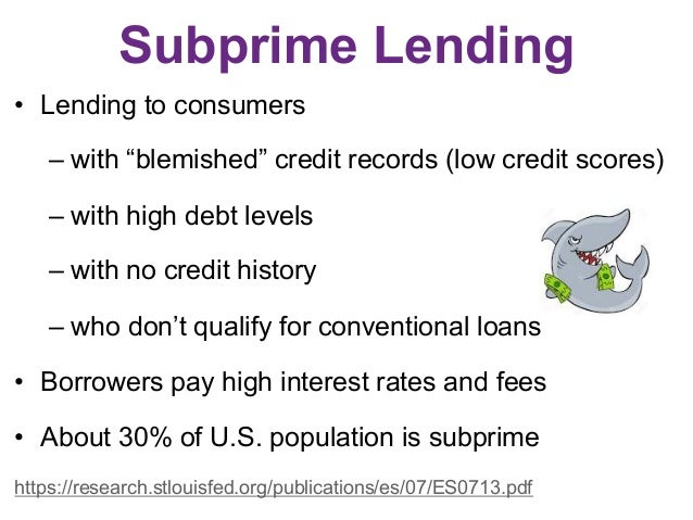 citigroup and subprime lending case study Need essay sample on citigroup: sub-prime lending and stock price drop we will write a cheap essay sample on citigroup: sub-prime lending and stock price drop specifically for you for only $1290/page.
