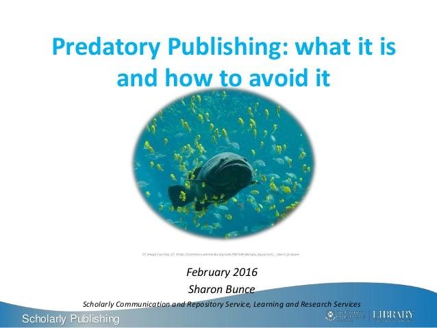 predatory publishing 2016