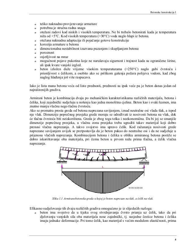 Betonske konstrukcije I 4 o teško naknadno provjeravanje armature o potrebna je stručna radna snaga o otežani radovi kod n...