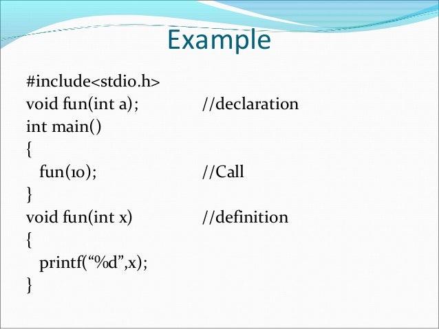 Pre defined Functions in C