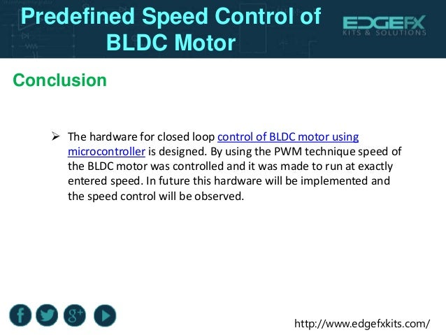 Predefined speed control of bldc motor for Brushless dc motor control using digital pwm techniques