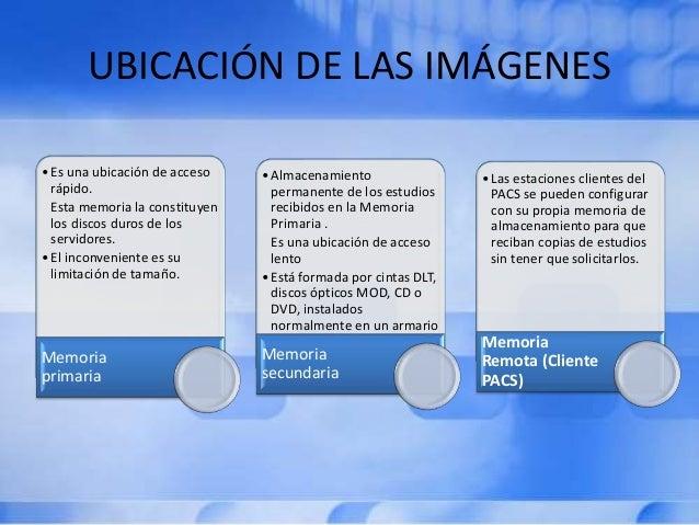 UBICACIÓN DE LAS IMÁGENES •Es una ubicación de acceso rápido. Esta memoria la constituyen los discos duros de los servidor...