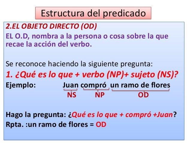Objeto directo (OD)  Subraya el OD (Objeto directo) en las siguientes oraciones: 1. En Máncora hay bellas playas. 2. Ella ...