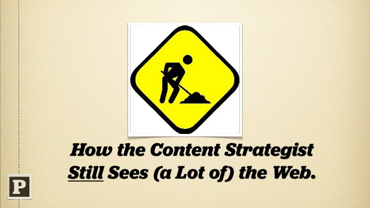 Why? Part I A generation into the web, we still don't do content right. It's our open secret. And it shows.           Cred...