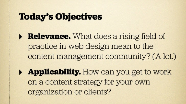 The Rise of  CONTENT STRATEGY