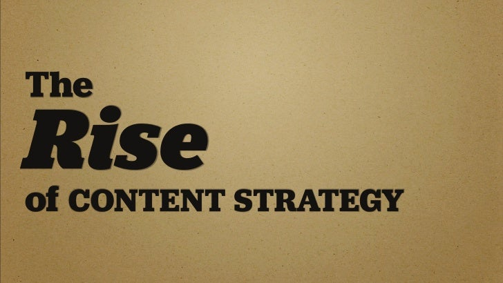 The Story So Far ... In web design, 2009 is the breakout year for content strategy.