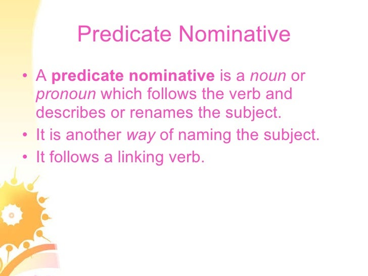 Predicates the direct object indirect object – Predicate Nominative Worksheet