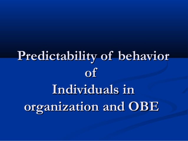 individuals in the organization