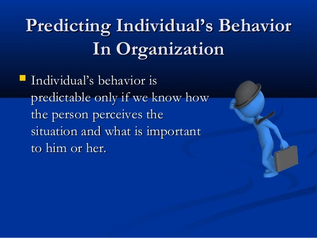 human behavior is predictable