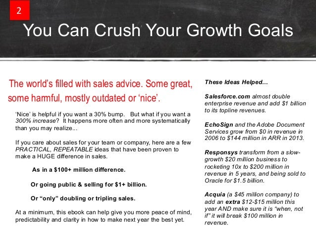 Predictable revenue guide to tripling your sales   part 1 - intro + customer success Slide 2